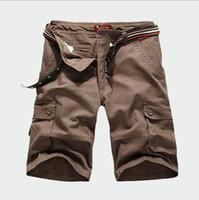 markalı kargo pantolonları toptan satış-Marka tasarımcıları-2018 Sıcak Marka Artı Boyutu S-6XL Yaz erkek Ordu Kargo Çalışması Rahat Bermuda Şort Moda Erkek Kısa Pantolon pantalones corto