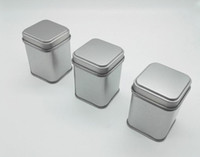 Wholesale mini tins resale online - 50g Tin Metal Cans Storage Bottles Jars Metal Cans Tea Caddy Mini Candy small sealed canisters portable travel Tea box SN1207