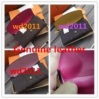 kutu tarihi toptan satış-En kaliteli orijinal kutusu lüks gerçek deri ile çok renkli sikke çanta tarih kodu uzun cüzdan Kart sahibinin klasik fermuar cep M60136