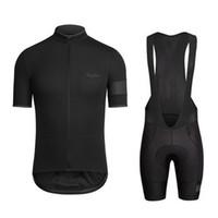 camisas de corrida de bicicleta venda por atacado-2018 Pro equipe Rapha Ciclismo Jersey Ropa ciclismo bicicleta de estrada roupas de corrida roupas de bicicleta de Verão de manga curta camisa de equitação F2744