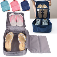 Wholesale storage pouch for shoes for sale - Group buy Fashion Travel Waterproof Storage Bags for Shoes Clothes Cosmetic Nylon Storage Pouch Organizer Bag Zipper Pocket Package Free DHL WX9