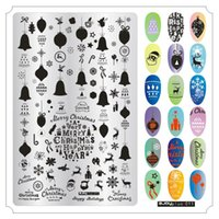 Wholesale halloween nail art stamps for sale - Group buy 9 cm Nail Art Stamping Plates Christmas Snow Deer Halloween Pumpkin Skull Owl Dream Net Bohemian Manicure Stamp Stencil New