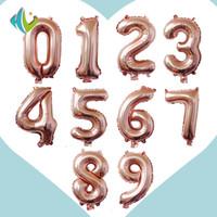 ingrosso numeri di compleanno-con Retial Packag 32 pollici rosa oro cifre palloncini Foil Air Balloon giocattoli gonfiabili matrimonio decorazione di compleanno festa per feste forniture
