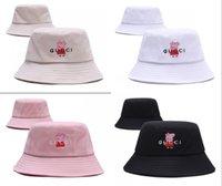 ingrosso donne di bowlers cappello-Berretto da baseball di marca di lusso di alta qualità per cappelli da donna per uomo Cappellino pieghevole di pescatore da spiaggia di pescatore nero per uomo