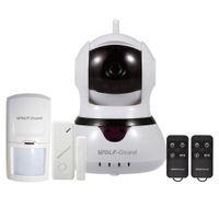 Wholesale home alarm camera door online - Wolf Guard DIY Simple Home Burglar Alarm Secutiry System WiFi IP Camera P with SOS Button Door Window Sensor PIR Motion Detector Keyfob