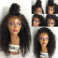 libere las pelucas delanteras del cordón libre al por mayor-Nuevos productos para el cabello Glueless brasileño del pelo rizado del frente del cordón WigFull peluca de encaje pelucas del cabello humano sin derramamiento sin enredo envío gratis