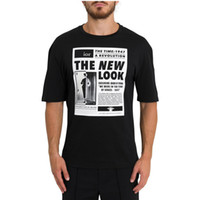 neue revolution großhandel-Frühling sommer 2019 luxus europa paris 1947 revolution neue look hochwertige zeitung t-shirt mode männer frauen t-shirt lässig baumwolle t