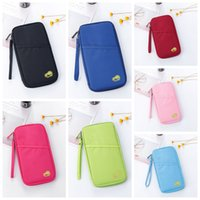 Wholesale travel documents case - Hot Travel Passport Credit ID Card Cash Holder Organizer Wallet Purse Case Bag Multifunctional Document Package DDA657