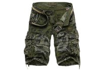 плюс размер камуфляжных шорт оптовых-Fashion Summer Men Sports Army Green Pocket Cargo Shorts Casual Camouflage Short Pants Mens  Plus Size 29-38