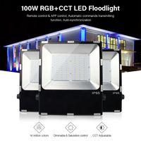 led inalámbrico de control remoto controlado al por mayor-FUTT07 100W RGB + CCT LED Reflector impermeable IP65 CCT ajuste 2.4G inalámbrico remoto wifi cellpnone control de control LED Spotlight