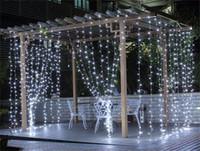 mehrfarbige vorhanglichter großhandel-LED-Vorhang-Licht 3M * 3M 300 LED-Birnen Christams Weihnachten Die Licht emittierende Diode EU-Stecker Weiß Multi-Farbe Twinkle LED-Lampe