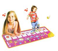müzik battaniyesi toptan satış-Yeni Moda Bebek Dokunmatik Klavye Oyna Müzikal Oyuncaklar Müzik Halı Mat Battaniye Erken Eğitim Aracı Oyuncaklar Iki Sürüm Öğrenme Oyuncaklar