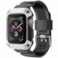 robuste uhr großhandel-Für Apple Watch Bands 40MM 44MM Robuste Schutzhülle für Galvanik mit Armband für Apple Watch Series 4