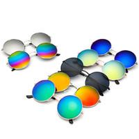 Wholesale Circle Lens Sunglasses - round sunglasses for women and Men Women Retro Classic Prince Mirror Circle Round Sunglasses Muti-Colors Optional