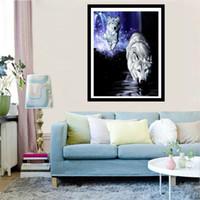 beaux tableaux achat en gros de-Belle Wolf Design 5d Diamant Peinture Mosaïque Strass Croix Broderie Kits Pleine Diy Peintures Décor À La Main À La Main Cadeaux Enfants 12cq jj