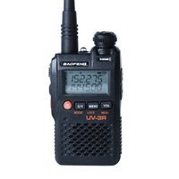 uhf rádio de banda dupla venda por atacado-Baofeng UV-3R Mini Walkie Talkie Banda Dupla UHF / VHF Dual Display 99 CH Rádio em Dois Sentidos Baofeng Ham Radio Portátil
