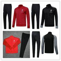 Wholesale football liver online - LIVER Football jacket tracksuit M SALAH de foot GERRARD MANE FIRMINO HENDERSON jacket FULL ZIPPER Veste suit