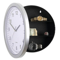 Wholesale Contemporary Wall Decorations - 2 in 1 Multi Purpose Analog Round Wall Clock Storage Box Contemporary Fashion Personalized Eye-catching Home Craft Decorations