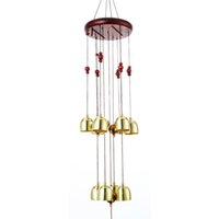 ingrosso ornamenti di giardino antico-campanelli eolici all'aperto Antique Windchime Copper Yard Garden Outdoor Living Room Metal Wind Chimes Ornamenti appesi Campane