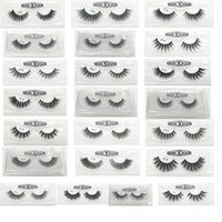 Wholesale hair gift boxes - 3D False Eyelashes 22 Styles Handmade Beauty Thick Long Soft Lashes Fake Eye Lashes Eyelash Gift Box Package 3001217