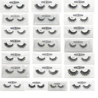 Wholesale Hand Made Boxes - 3D False Eyelashes 22 Styles Handmade Beauty Thick Long Soft Lashes Fake Eye Lashes Eyelash Gift Box Package 3001217