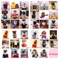 terno do terno do cão venda por atacado-35 estilos engraçado cão gato pet xmas cosplay natal natal trajes boxer doctor enfermeira terno pet roupa roupas de festa de aniversário aaa862
