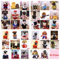 trajes de médico al por mayor-35 Estilos Perro Divertido Gato Mascota de Halloween de Navidad Cosplay Set Disfraces de Navidad Boxer Doctor Traje de Enfermera Ropa de Mascota Ropa de Fiesta de Cumpleaños AAA862
