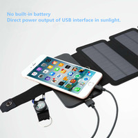 10W sunpower solar charger Direct charge Battery Folded Solar panels Power Bank Removable Solar Charger Case for Electronic products