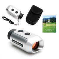 поле для гольфа оптовых-Pocket 7X Digital Golf Range Distance Finder Golfscope Scope with Soft Carrying Bag Case