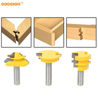"Wholesale set drawers - 3Pcs set Jointing Router Bit Set -Lock Miter Glue Joint Drawer Front -1 2"" Shank."