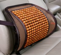 Wholesale chair cushion supports - Mesh Bamboo Car Seat Cover Cushion Back Support Pack Waist Massage For Office Chair Seat Back Seat Lumbar DDA266