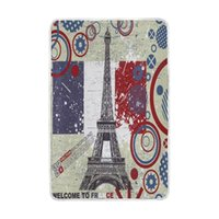 Wholesale romantic king bedding - Romantic France Paris Eiffel Tower Vintage Blanket Soft Warm Cozy Bed Couch Lightweight Polyester Microfiber Blankets