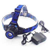 Cree Q5 Led Frontal Led Torcia frontale Torcia ricaricabile Linternas Lampe Torcia Head Lamp Build -In Battery + Charger