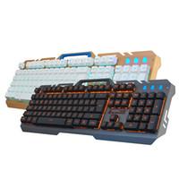 ingrosso tastiera leggera nera-PARASOLANT LED Light Wired Tastiera USB Set Meccanico Feel Gaming Tastiera retroilluminata per PC Nero Bianco Teclado Computer