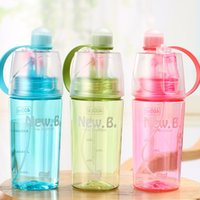 Wholesale thermal cycling for sale - Group buy Plastic Sport Water Bottle Atomizing Mug Outdoors Portable Hiking Cycling Fitness Spray Cup Gift Multi Color New xt2 CC
