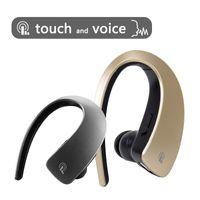 auricular inalámbrico para ipad al por mayor-Q2 Ear Hook Auriculares Bluetooth Auriculares inalámbricos Touch Key Estéreo Deporte Música HD MIC Manos libres Auriculares para iPhone 8 X iPad Xiaomi Samsung