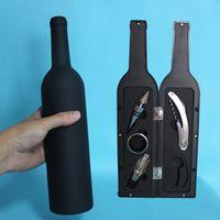 Wholesale Ring Wine Stopper - 5 Pcs Set Wine Opener Tool Set Bottle Opener Stopper Drip Ring Wine Pourer Stainless Steel Bottle Opener Abridor De Garrafa