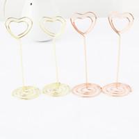 Wholesale Metal File Clips - Love Metal Clip Business Card Files Photos Clips Wedding Decor Multi Color New 1 3sq C R