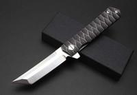Wholesale Knife Japan - 2018 new Kwaiken Ball Bearing Flipper folding knife tactics survival knives tanto D2 blade Japan razor style outdoor EDC pocket tools
