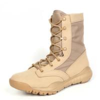 Sicherheit Kampfstiefel Leder Schuhe Armee Herren Wüste Winter 2018 Taktische Stiefeletten Sommer Männer Military Stiefel CoexQErdBW