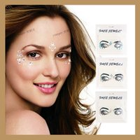 Wholesale crystal for sales online - For Women Face Forehead Decor Sticker Safety Non Toxic Paster DIY Glitter Crystal Tattoo Stickers For Wedding Decorations Hot Sale yy B