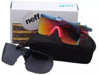 Wholesale sunglasses packing for sale - Group buy Neff Sunglasses Men Brand Designer Sport Glasses Cycling Eyewear Big Frame Sun Glasses with Packing Lens Superstar Lebron James Goggles
