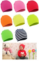 bebek bebek şapkaları toptan satış-Sıcak Satış Bahar Yeni Unisex Bebek Erkek Kız Çocuklar Yürüyor bebek renkli Pamuk Yumuşak Sevimli Şapka Cap Beanie