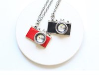 Wholesale camera chain jewelry online - Vintage Silver Enamel camera Pendant Necklaces Charms Statement Choker Necklace Women Fashion Jewelry Christmas Accessories Gifts NEW