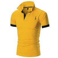 Wholesale blue yellow polo shirt for sale - Group buy New Arrivals Summer Top Tees Polo Men Casual Men s Solid Color Professional Designer T Shirt Mens Polo Camisas Homens M XL