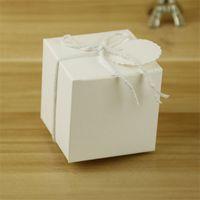 ingrosso dessert di carta case-Contenitore di caramella di cerimonia nuziale di stile europeo Kraft Paper Retro Caso di dessert Scatole regalo Favore di partito Forniture 5 * 5Cm 0 2zj Ww