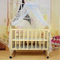 Wholesale canopies netting for beds online - 1pc Baby Bed Mosquito Net Mesh Summer Dome Curtain Net for Toddler Crib Cot Canopy Baby Bed Mosquito