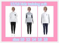 Wholesale Quick Tracks - Kids Real Madrid soccer tracksuit 2017 2018 Ronaldo Neymar jr survetement football training suit chandal jogging football track Sportswear