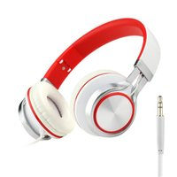 Wholesale high bass mp3 player online - HD200 Headphones with mic high quality Stereo Headsets Strong Bass Headphones Mp3 player Laptop Computers Tablet Folding Earphone mm Jack
