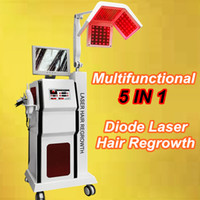 Wholesale Ce Hat - Beauty Salon laser hair growth equipment hair laser hat cap comb brush 5 in 1 hair loss treatments machine 650nm diodes
